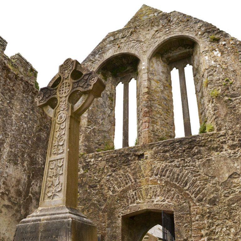 Ornate carvings Augustinian Priory Buttevant