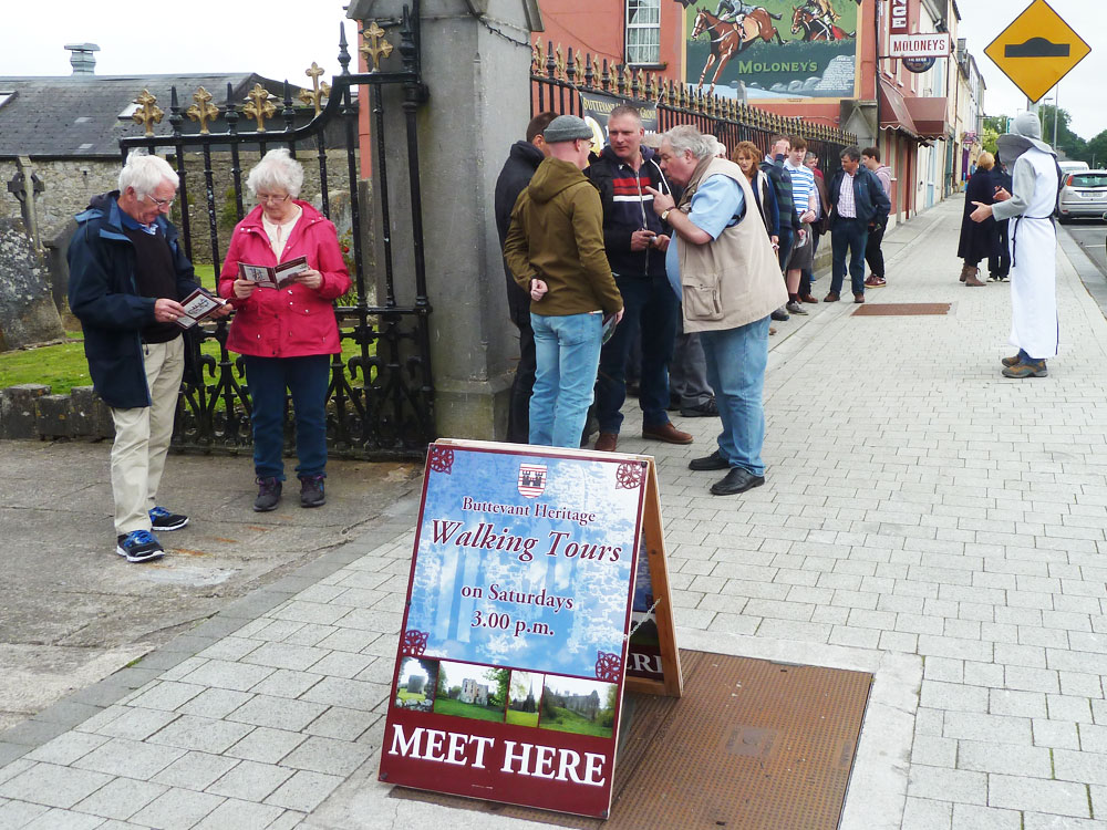 Buttevant Guided Tour Group Church Gates Buttevant