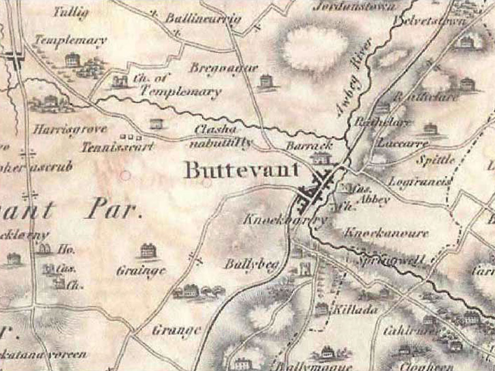 19th Century Map of Buttevant