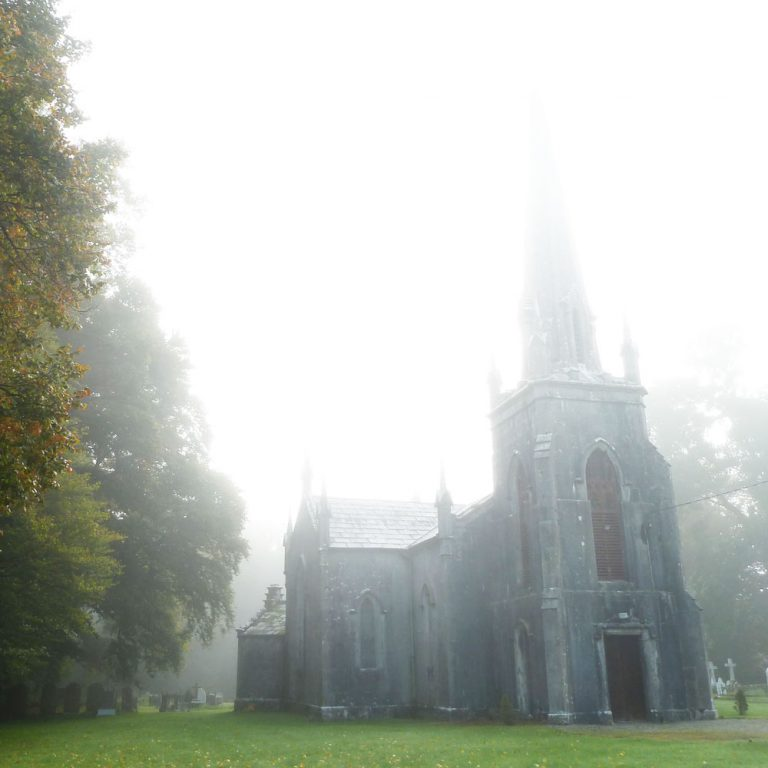 St John's Church Buttevant on foggy morning