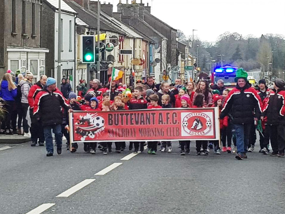Buttevant AFC Juniors Group St. Patricks Day Parade