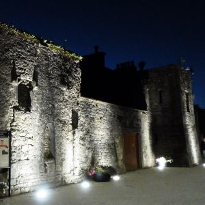 Lombards Castle Buttevant by night