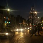 Buttevant Streetscape with Christmas Lights